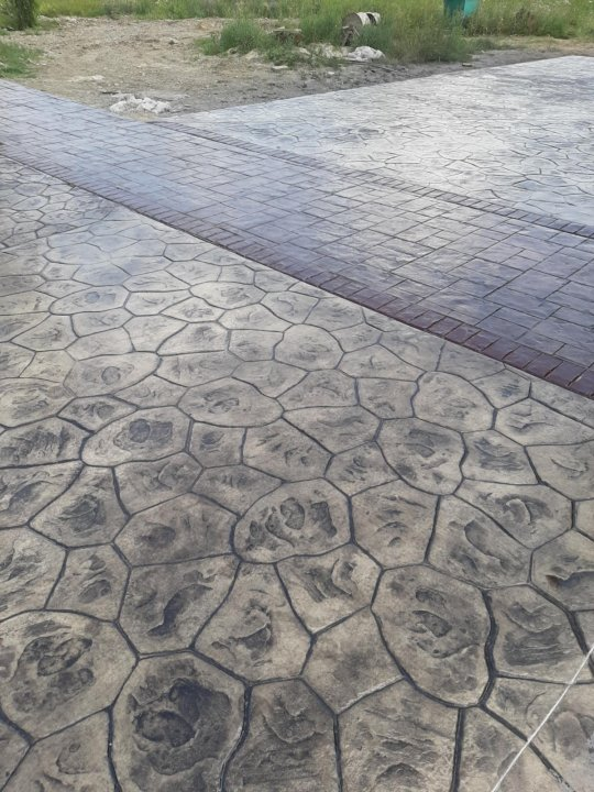 Штампованный бетон екатеринбург можно ли покрасить цементный раствор