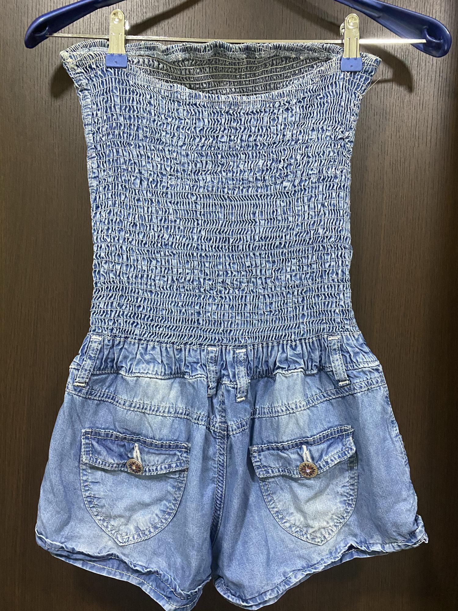 Комбинезон джинсовый в Московском 89651900500 купить 2