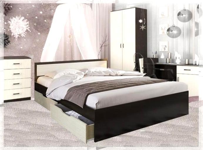 Кровать двуспальная с ящиками и матрасом ГРАЦИЯ в Москве