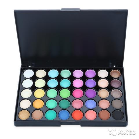 Popfeel палитра 40 разных цветов - тени для век в Москве 89299838147 купить 2