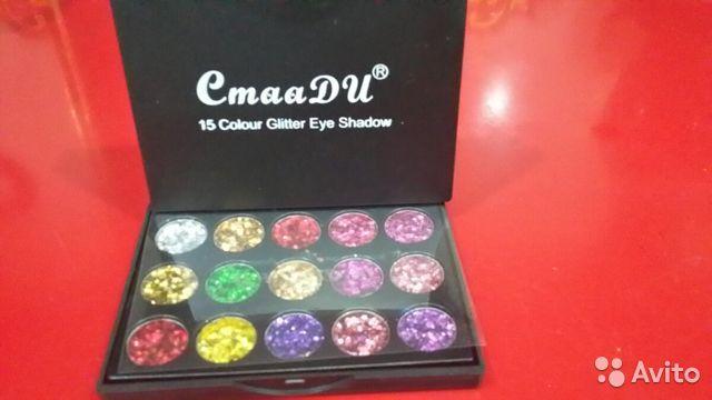 15 цветов, блестящие тени для век с блестками в Москве 89299838147 купить 6