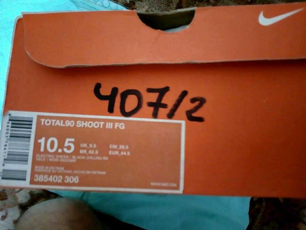 Nike / Бутсы TOTAL90 SHOOT III FG 10.5 US / 44.5 в Москве