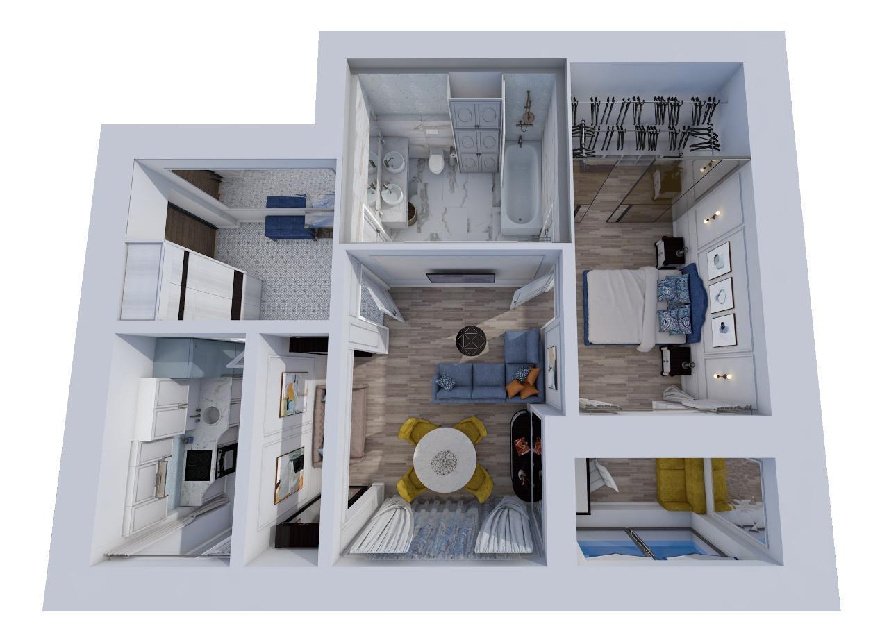 Квартира, 2 комнаты, 60 м² в Москве 89168098829 купить 8