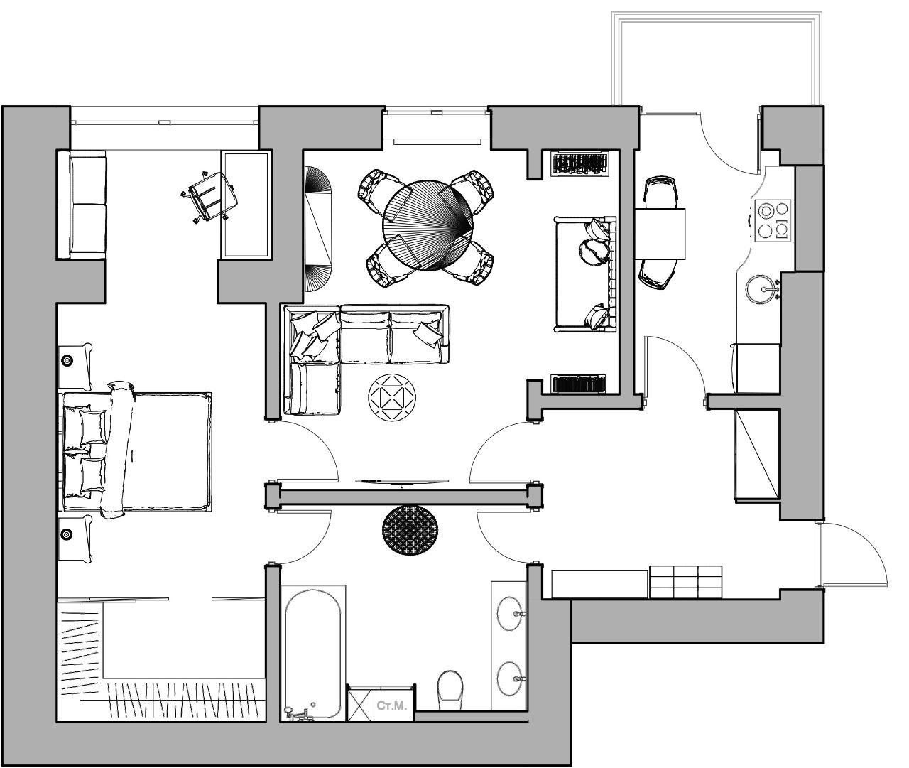 Квартира, 2 комнаты, 60 м² в Москве 89168098829 купить 9